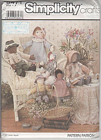 Vintage - Oop - 22½; - 14½in Rag Dolls - Pattern