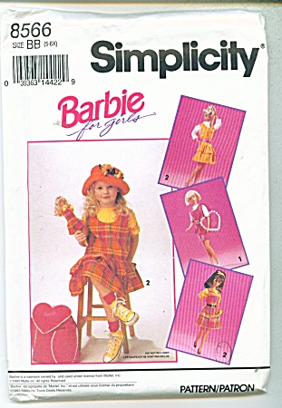 Simplicity Pattern Barbie For Girls