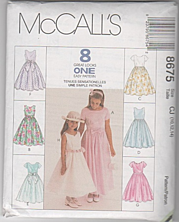 Girls Special Occasion Dress~SZ 10-14~McCALL (Image1)