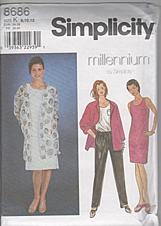 Simplicity - 8686 - Dress - Top - Pants - Jacket - Uncut