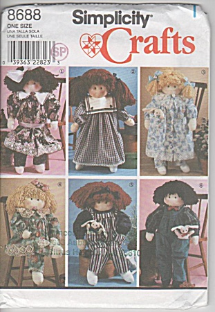 Vintage - Simplicity 8688 - 22 In Doll - Clothes - Uc
