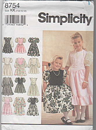 SIMPLICITY~GIRLS DESIGN OWN DRESS~SZ 10-12 (Image1)