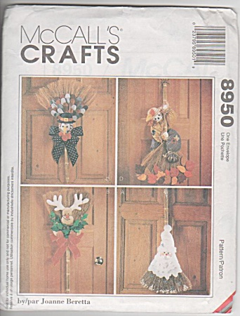 McCalls PATTERN SEASONAL BROOM DOLLS~UNCUT (Image1)