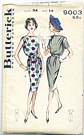 Vintage - Butterick Sheath Dress - Sz14