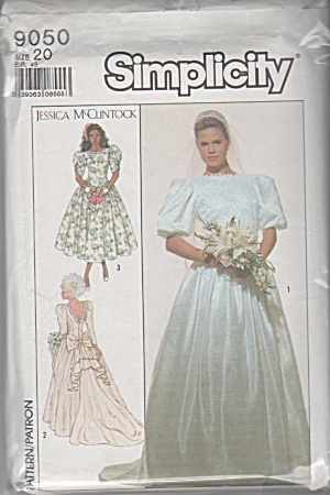 JESSICA MCCLINTOCK WEDDING DRESS~PATTERN~SZ20 (Image1)