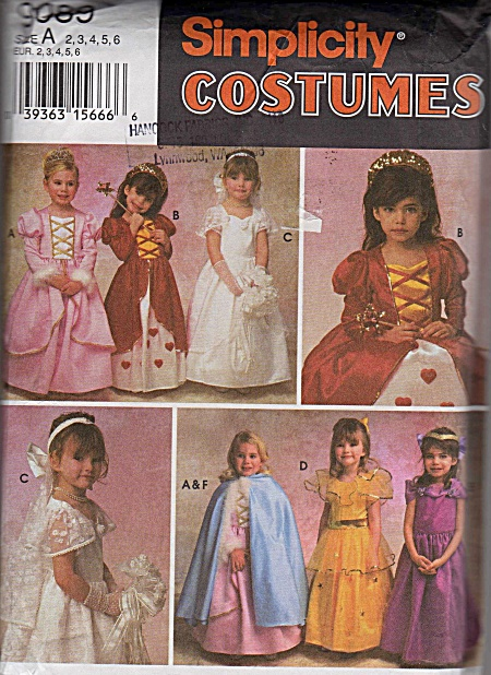 VINTAGE~GIRLS COSTUMES~BRIDE-PRINCESS-ETC~2-6 (Image1)
