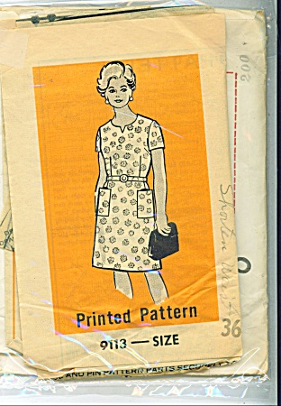 Vintage Marian Martin - Dress Pattern - Sz 36