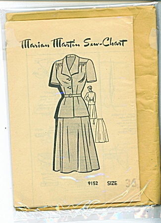 Vintage - Marian Martin 2 Pc - Dress Pattern - Sz36