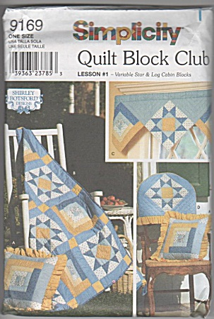 Quilt Block Club - Lesson 1 - Botsford - Star - Log