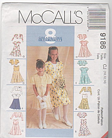 Mccall's - 8 In 1 - Girls All Occasion - Dress - Sz10