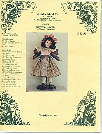 Jubilee Mold 26 In Doll Outfit