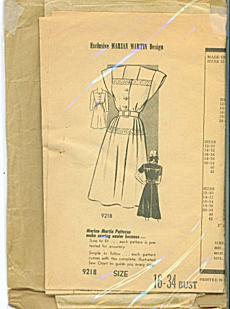 Vintage Marian Martin Dress Pattern - Sz 16-34