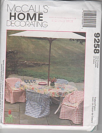 McCALLS 9258~UNCUT~PATIO FURNITURE COVERS (Image1)