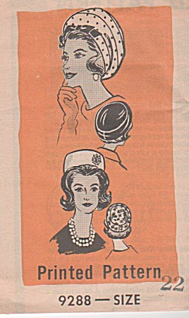 Vintage 50s - Hat Pattern - Uncut - Really Retro