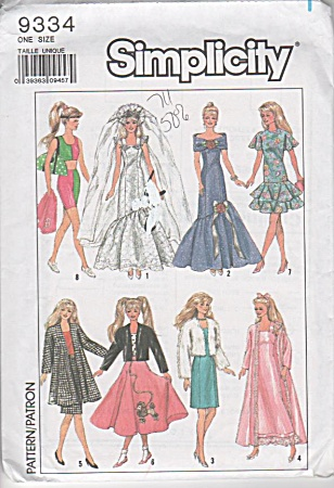 Vintage - Barbie Pattern - 11-1/2 In Fashion Doll