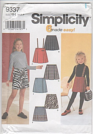GIRLS~A-LINE PLEATED SKIRTS~SUSPENDERS~SZ3-6 (Image1)