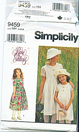 Simplicity  9459 3-6 RARE Editions Party Dres (Image1)