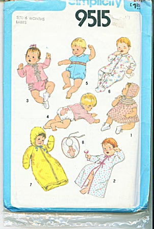 Vintage Simplicity Layette Pattern 9515