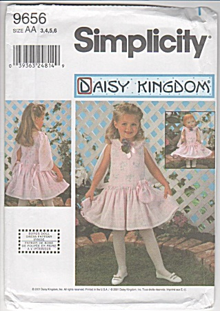 Daisy Kingdom - Girls'dolls - Dress - Oop - Sz 3-6
