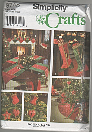 Simplicity - Vintage Christmas Decor - Oop - 1995