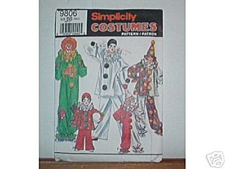 SIMPLICITY CLOWN COSTUME~2-12 (Image1)