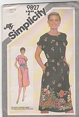 JIFFY~DRESS PATTERN~VINTAGE 1980~SZ14~OOP (Image1)