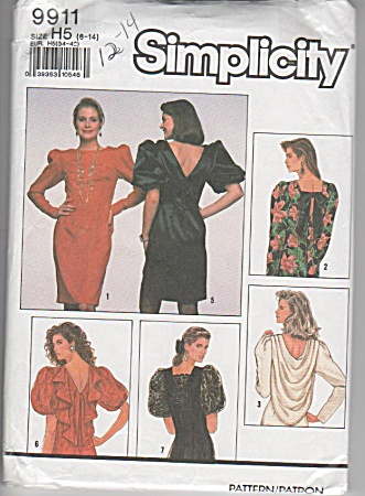 Simplicity Retro Dress - Pattern 9911-size 6-14