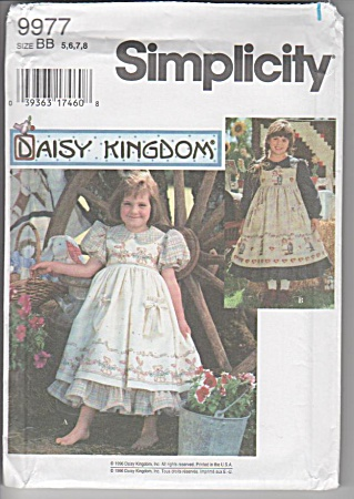 Daisy Kingdom~Dress and Pinafore~SZ3-6~OOP (Image1)