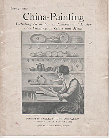 VINTAGE~CHINA PAINTING~BOOK~EMMA MUSSELMAN (Image1)