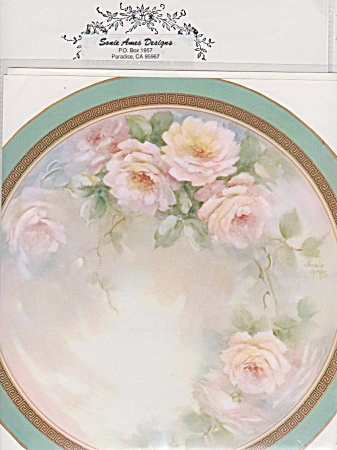 Vintage - Sonie Ames - Rose Design - China Painting