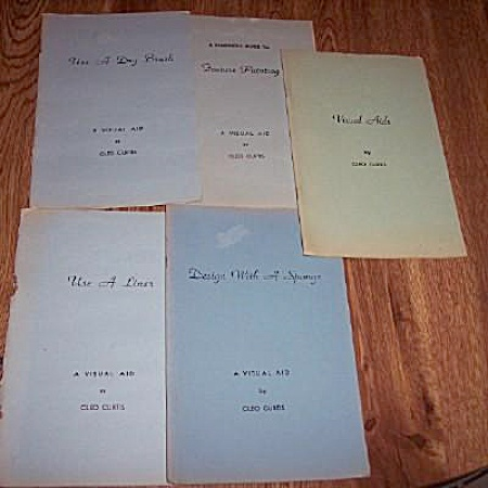 China Painting - 5 Booklets - Cleo Curtis - Oop