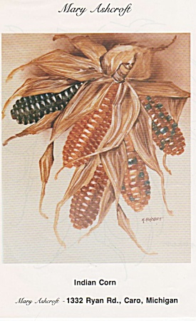 Vintage - Mary Ashcroft - Indian Corn -