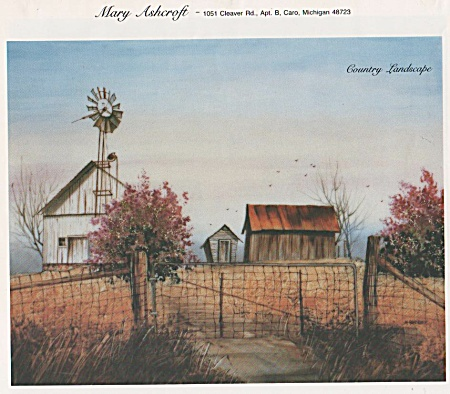 Vintage - Mary Ashcroft - Country Landscape -