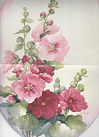 Mary Ashcroft - Hollyhocks - Study - New