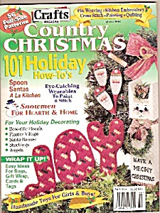 Crafts magazine - country Christmas -  Holiday 1996 (Image1)