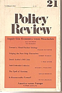 Policy Review booklet/Magazine -summer 1982 (Image1)