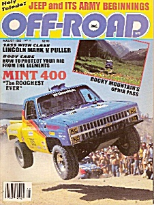 Off-Road magazine -  August 1985 (Image1)