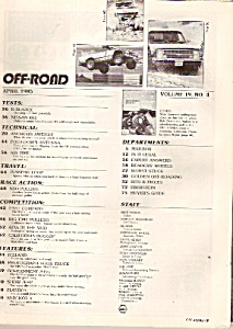 Off-Road magazine-  April 1985 (Image1)