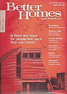 Better Homes And Gardens- August 1970