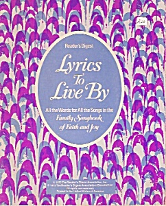 Lyrics to Live by (Reader's digest) -1975 (Image1)