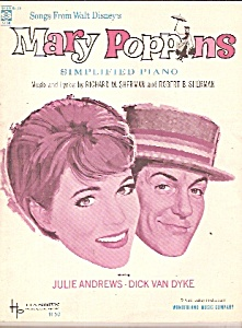 1966 Mary Poppins Musical Score Songbook Music Disney