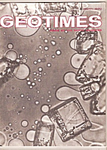 GEO TIMES Magazine - March 1970 (Image1)