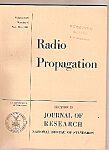 Radio Propagation -  Nov. Dec. 1961 (Image1)
