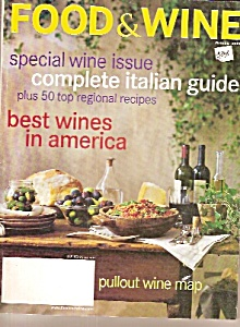 Food & Wine Magazine- October 2000