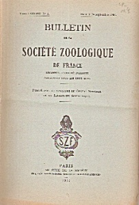 Bulletin de la Societe Zoologique de France - 1963 (Image1)