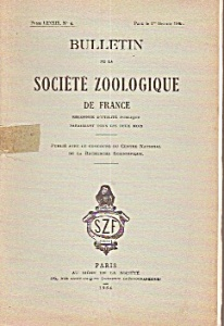 Bulletin de la Societe Zoologique de France - 1964 (Image1)