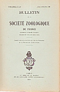 Bulletin De La Societe Zoologique De France - 1964