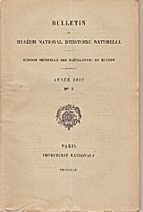 Bulletin de Museum National D'Histoire naturelle 1912 (Image1)