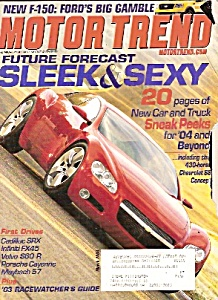 Motor Trend Magazine- March 2003