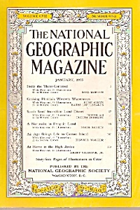 National Geographic Magazine-  January 1955 (Image1)